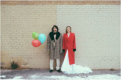 This Couple Shot 70s-Themed Engagement Photos
