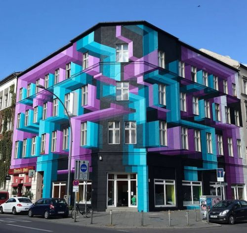 Artist Mr. June Brings Urban Facades to Life with Layered Three Dimensional Murals