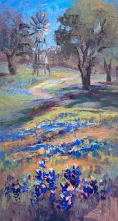 Niki Gulley Paints Bluebonnets in the Texas Hill Country