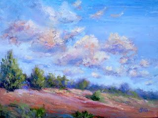 Partly Cloudy, New Contemporary Landscape Painting by Sheri Jones