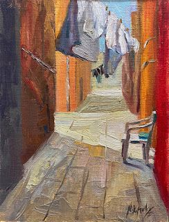 Laundry Drying in Burano, Italy by Contemporary Impressionist Niki Gulley
