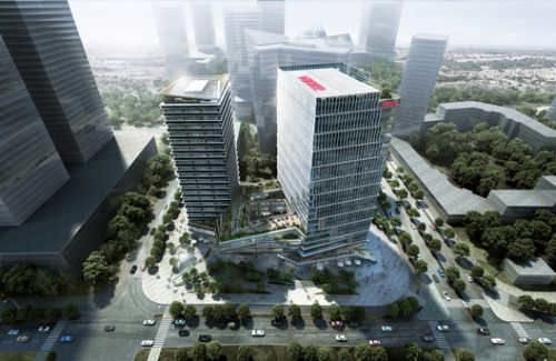LWK & Partners Releases Design 'Olympic Vanke Centre' Project in China