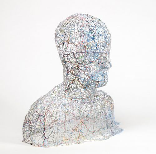 Shaped Using Precisely Cut Maps, Nikki Rosato's Busts and Portraits Connect Place, Memory, and Identity