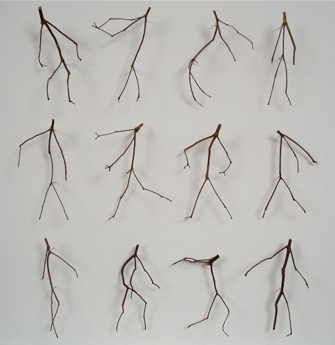 Using Found Twigs, Artist Chris Kenny Assembles Tiny Dancing Figures and Minimal Portraits