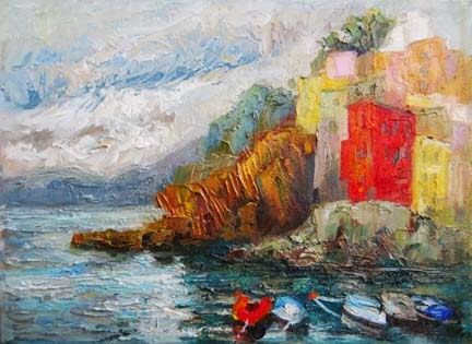 Painting Cinque Terre on Art Trek with Niki Gulley and Scott Williams