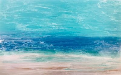 "Contemporary Beach Art, Abstract Seascape Painting, Coastal Living Art , Ocean""WINDSWEPT SURF-SKILLERN'S SEAS SERIES"" by International Contemporary Landscape Artist Kimberly Conrad"