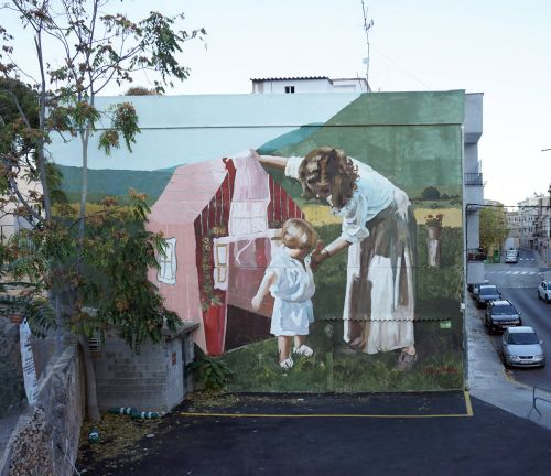 Candid Moments Captured in Vintage Photos Are Magnified in Mohamed L'Ghacham's Murals