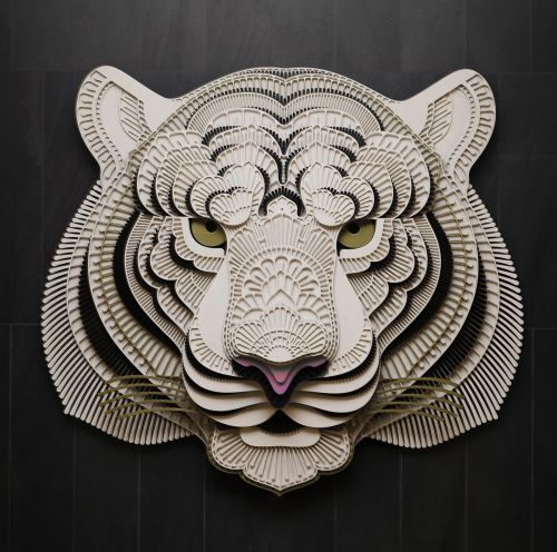 Detailed Portraits of Animals Combine Intricate Layers and Decorative Flourishes