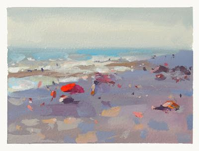 On location with gouache , July 8, 2
