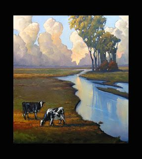 Cows, Moon, Trees.go together like
