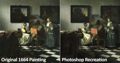 Recreating a 1664 Painting Using Only Photoshop and Stock Photos