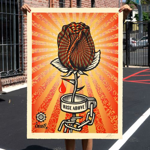 "Shepard Fairey ""Rose Shackle"" Print Release - August 13th"
