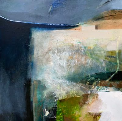 """Contemporary Art, Abstract Landscape Painting, Fine Art for Sale """"Creative Connection"""" by Intuitive Artist Joan Fullerton"""