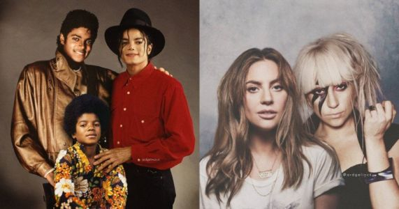 Photos of Celebrities Posing with Their Younger Selves