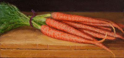Carrot still life oil painting a day