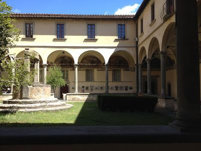 In the Cloister of Saint Agostino
