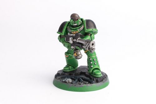 WIP: Salamanders Space Marine Heroes Brother Calistus
