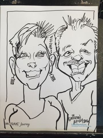 Mosaic life care-CARICATURES at the concert