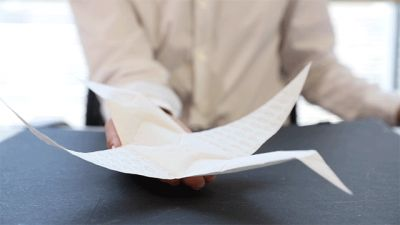 MIT Developed a Fabric That Can Fold Into Origami-Like Shapes When Inflated