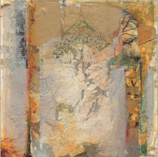"""Contemporary Abstract Mixed Media Painting """"First Epilogue"""" by Intuitive Artist Joan Fullerton"""