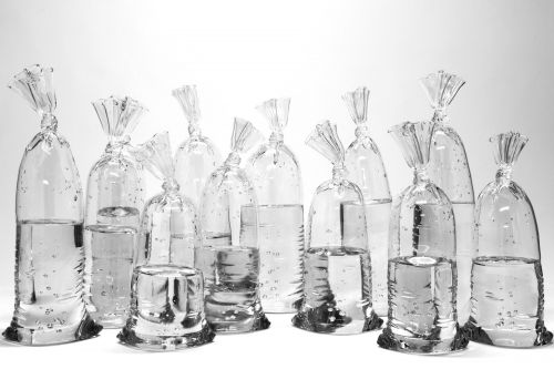Glass Sculptures by Dylan Martinez Perfectly Imitate Water-Filled Plastic Bags