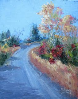 Fall Light, New Contemporary Landscape Painting by Sheri Jones