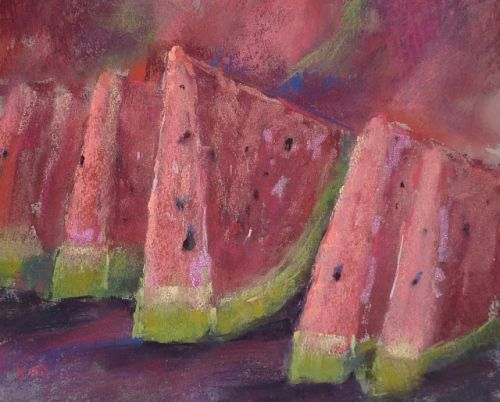 The Secret to Painting Delicious Food! Watermelon Demo Video