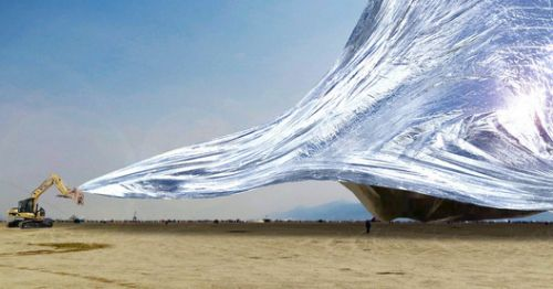 Fundraiser Launched for Giant Burning Man Installation Made from 3000 NASA Space Blankets