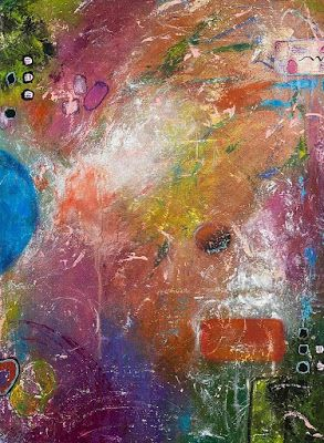 """Abstract Painting, Expressionism, Contemporary Art, """"THE REBEL'S MISCHIEF"""" by International Contemporary Artist Kimberly Conrad"""