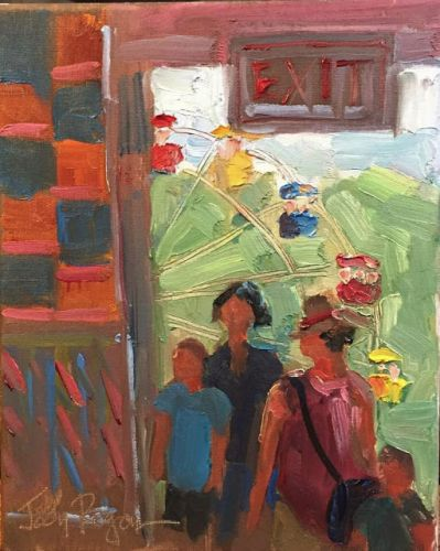 """At the Fair"" oil 10 x 8"