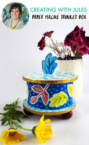 Creating with jules: paper cache trinket box