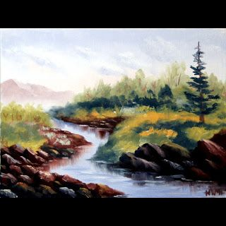 Mark Webster - Untitled Landscape Oil Painting 71311