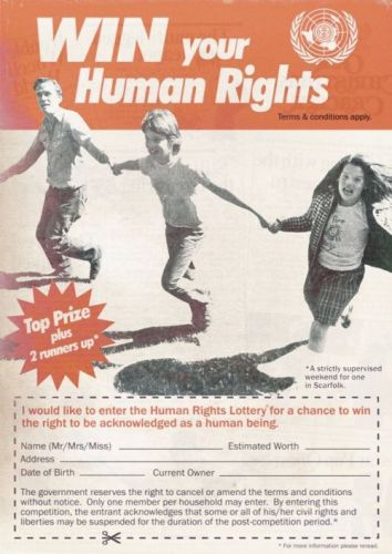 Human Rights Lottery Advertisement (1976)