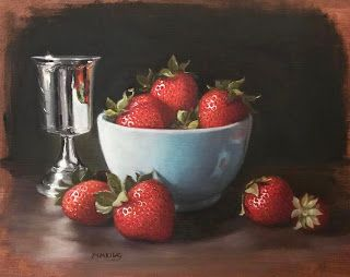 Strawberries with Silver Goblet