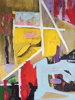 """Contemporary Art, Abstract,Expressionism, Studio 9 Fine Art """"Not Yellow"""" by International Abstract Artist Amanda Saint Claire"""