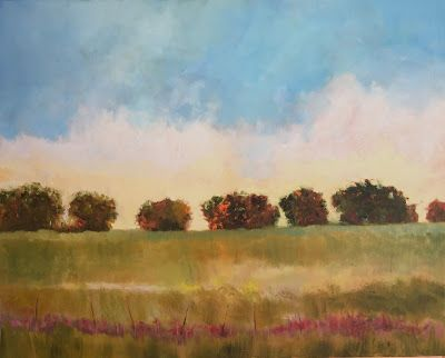 """Contemporary Landscape, """"Texas Evening,"""" Amy Whitehouse"""