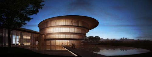 Tadao Ando Unveils Images of the He Art Museum, Under-Construction in Southern China