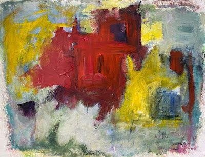 """Abstract Art,Contemporary Painting, Expressionism, """"DISTANCES"""" by Oklahoma Artist Nancy Junkin"""