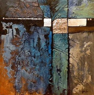 "Contemporary Abstract Mixed Media Abstract Painting, ""Celebration of Blue"" © Carol Nelson Fine Art"