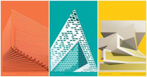 "These BIG-Inspired Posters Highlight the Evolving ""Syntax"" in Architecture"