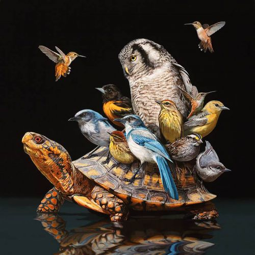Unusual Animals Brought Together in New Hyperrealistic Paintings by Lisa Ericson