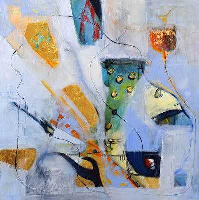"""Expressionism, Original Contemporary Abstract Painting """"Harvesting Echoes"""" by International Contemporary Abstract Artist Arrachme"""