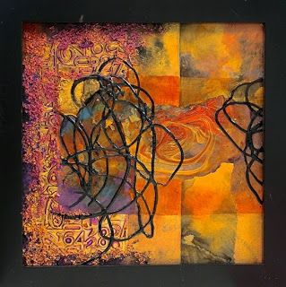 "Mixed Media Abstract Painting, ""Inscrutable"" by Colorado Mixed Media Abstract Artist Carol Nelson"
