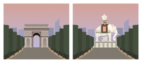 The Arc de Triomphe as an Elephant?! These Illustrations Reveal What Famous Monuments Could Have Been