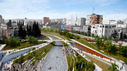 MAU Architecture Plans an Urban and Landscape Regeneration of Fier's City Center in Albania