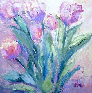 Spring Tulips, New Contemporary Painting by Sheri Jones