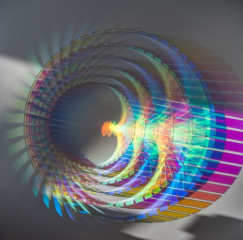 New Glowing Dichroic Glass Installations by Chris Wood are Activated by Sunlight