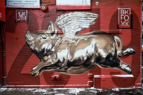 """""""Year Of The Pig"""" by BK Foxx in Chinatown, New York City"""