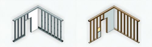 Steel Frame and Wood Frame: The Benefits of Dry Construction Systems