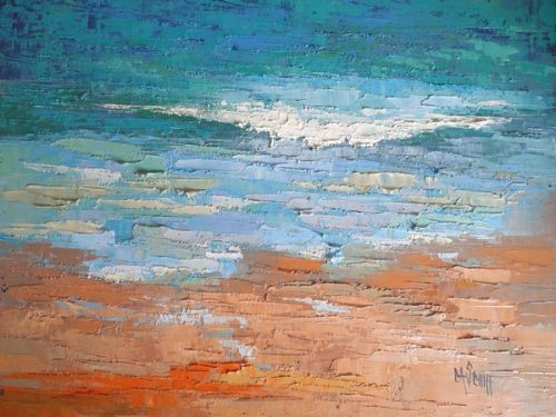 Palette Knife Art, Textured Painting, Seascape Oil, Abstract Seascape, SOLD